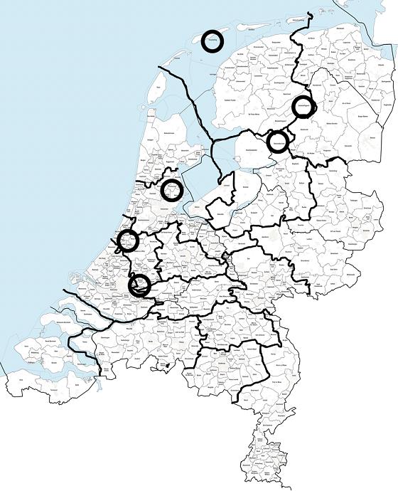 regio kaart